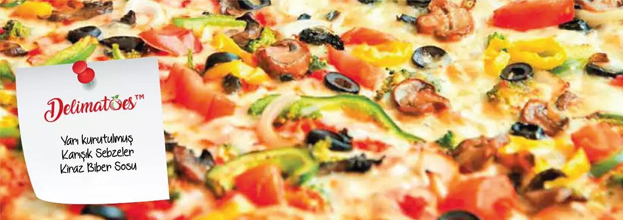 Fırında Kurutulmuş ve Marine Edilmiş Vegan Pizza Tarifi