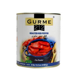 Gurme212 Közlenmiş Kırmızı Biber A10 Teneke