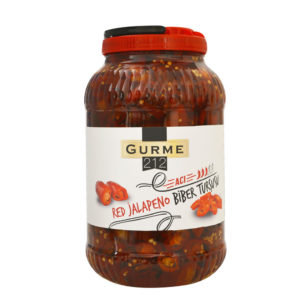Gurme212 Kırmızı Jalapeno Biber 3800g Pet Galon