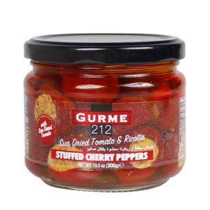 Gurme212 Ricotta Peynir & Domates Dolgulu Kiraz Biber 300cc Kavanoz