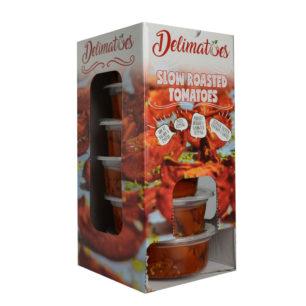 Delimatoes Yarı Kurutulmuş Kırmızı Domates 230g Tray