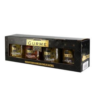 Gurme212 Akdeniz Lezzetleri Seti  4x255cc Kavanoz