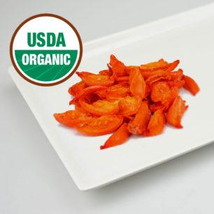 Organik IQF Yarı Kurutulmuş Kırmızı Domates 10kg Koli