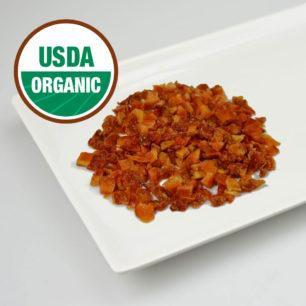 Organik IQF Yarı Kurutulmuş Kırmızı Domates – Küp Kesim 10kg Koli