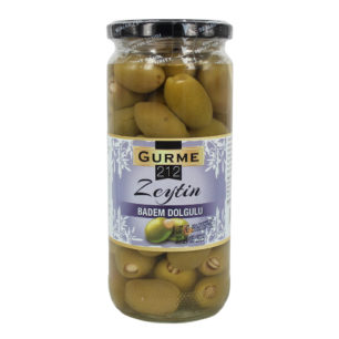 Gurme212 Green Olives Stuffed with Almond 500cc jar