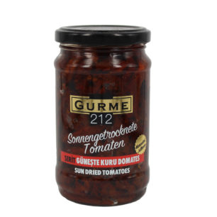 Gurme212 Sun Dried Tomatoes in Oil 320cc – Strips Jar