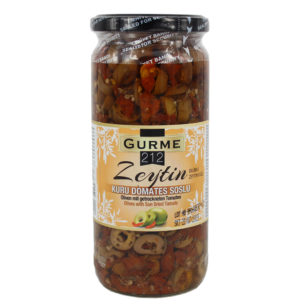 Gurme212 Olives with Sun Dried Tomato 500cc jar