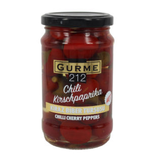 Gurme212 Chili Cherry Peppers 320cc Jar