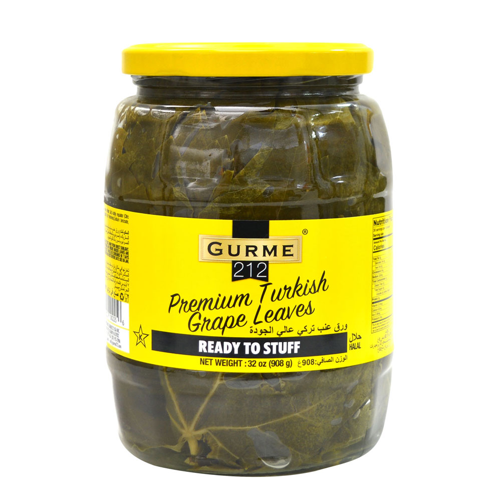 Gurme212 Premium Turkish Grape Leaves 1062cc Jar Gurme 212