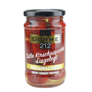 Gurme212 Sweet Cherry Peppers 320cc Jar