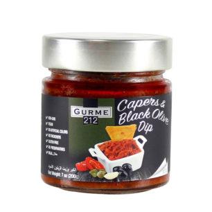 Gurme212 Capers & Black Olive Dip 255cc Jar