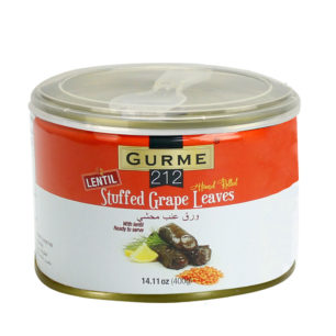 Gurme212 Stuffed Grape Leaves – Lentil 400g Tin