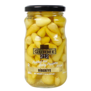 Gurme212 Pickled Hot Baby Peppers 370cc Jar