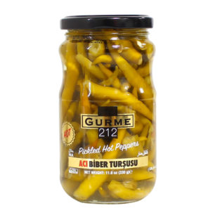 Gurme212 Pickled Hot Peppers 370cc Jar