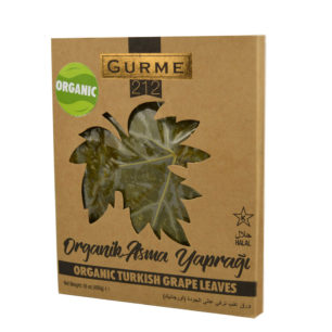 Gurme212 Organic Grape Leaves 455g Wooden Tray