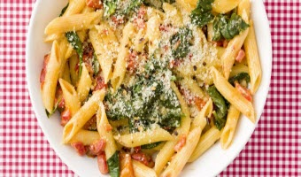Creamy Roasted Red Pepper Penne