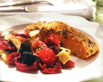 Dijon Herb Crusted Salmon