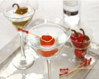 Hot Cherry Pepper Martini