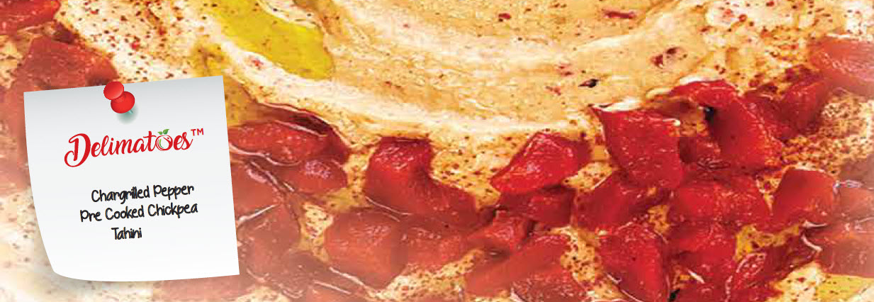 Humus Topped with Marinated Chargrilled Peppers Cookbook