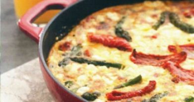 Tomato And Asparagus Frittata