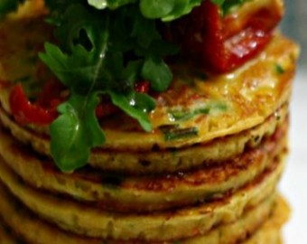 Tomato, Chive, And Chickpea Pancakes (Vegan)