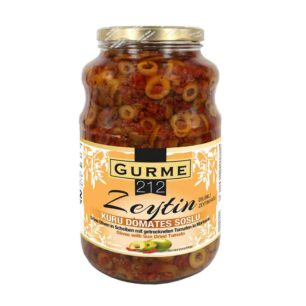 Marinated Green Olives with Sun Dried Tomato 2650cc Jar