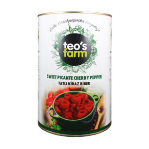 Teos Farm Pitted Cherry Pepper in Sweet Brine A12 Tin