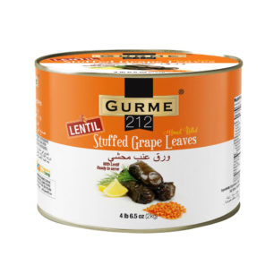 Gurme212 Lentil Stuffed Grape Leaves 2000g Tin