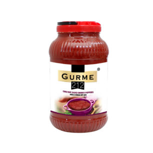 Gurme212 Chili Dip Sauce Cherry Peppers 3800g Gallon Pet