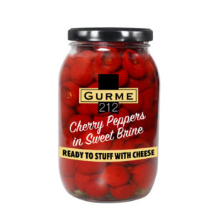 Gurme212 Cherry Peppers Pitted in Sweet Brine