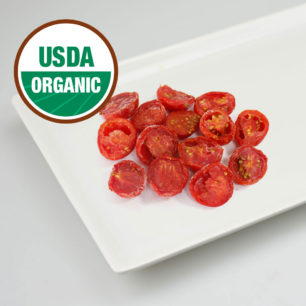 Organic IQF Oven Semi Dried Red Cherry Tomato Halves 10kg Box