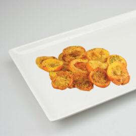 Marinated Cherry Tomato Crisps